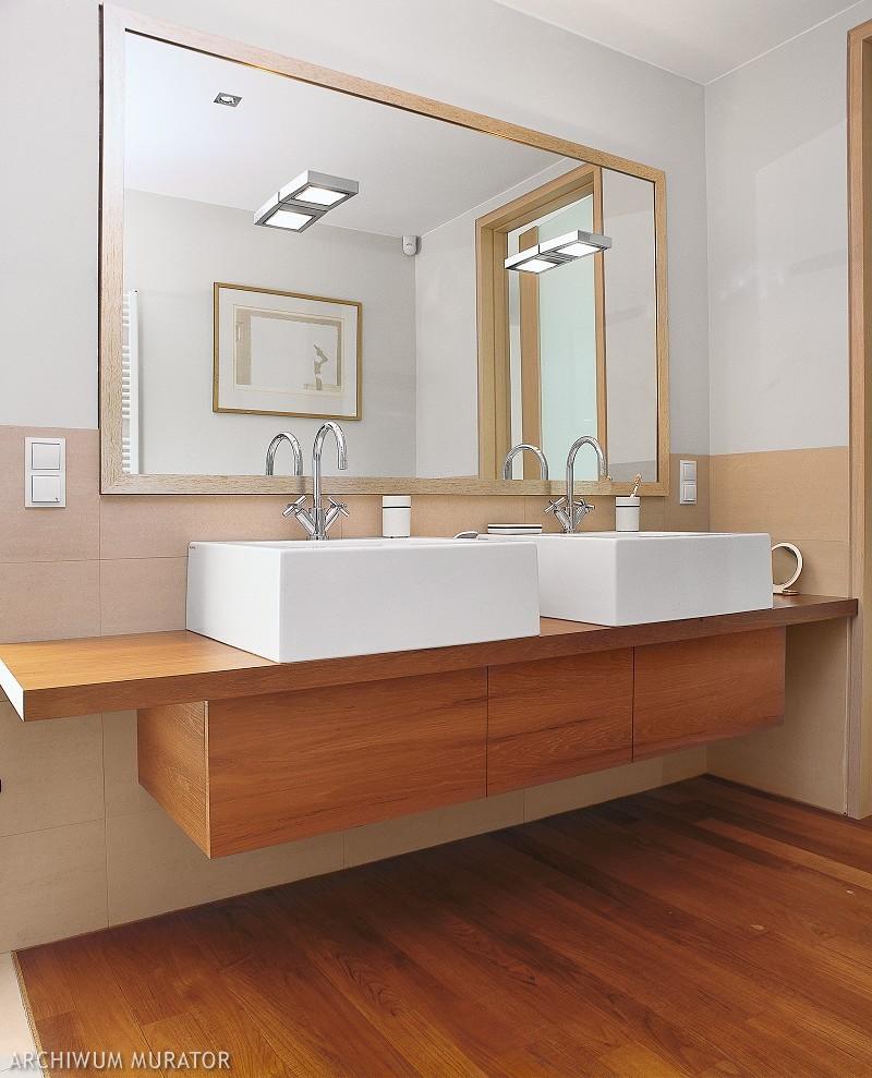Drewniany blat łazienkowy