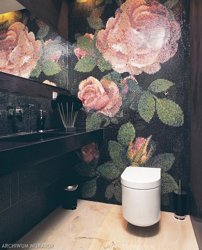 Mała łazienka gościnna - pomysłowo wykończona