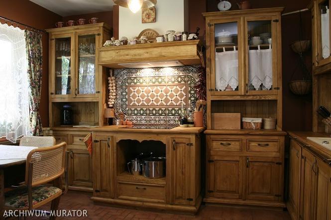 Zdjęcia kuchni rustykalnych meble i dodatki Zobacz   -> Kuchnia Gazowa Retro