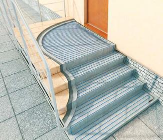 Kable grzejne na schodach