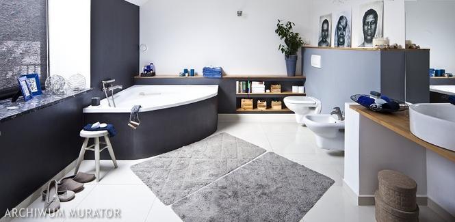 Łazienka w szarościach - pomysł na oryginalną aranżację