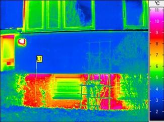 Badanie fundamentu kamerą termowizyjną