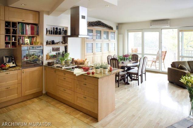 Galeria zdjęć  Kuchnia otwarta na salon Plusy i minusy połączanie kuchni z   -> Kuchnia Z Oknem Otwarta Na Salon